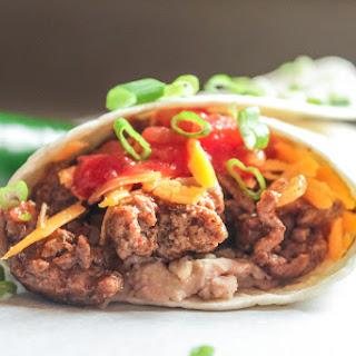 Beef and Bean Burritos.