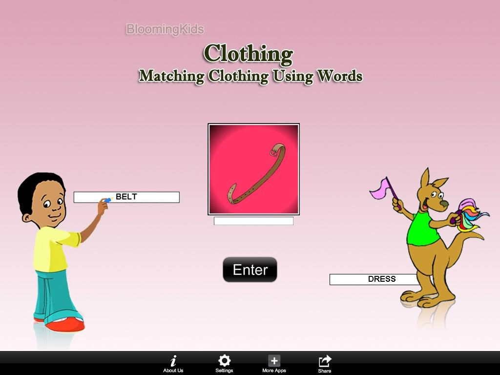 MatchingClothingUsingWordsLite- screenshot