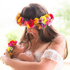 Mother & Daughter by Sarah Sullivan - People Family ( #gympie, #motheranddaughter, #newborn, #sarahsullivanphotography, #freshflowers )