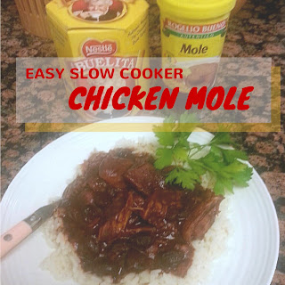 Easy Slow Cooker Chicken Mole.