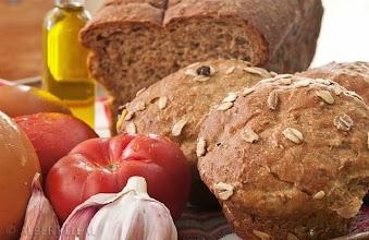 Foto: Esmorzant pa amb tomàquet casolà deliciós, a l'Hotel Sol, Benicarló, Espanya, foto de l'Albert Lleal
