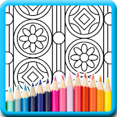 Pattern doodle coloring pages