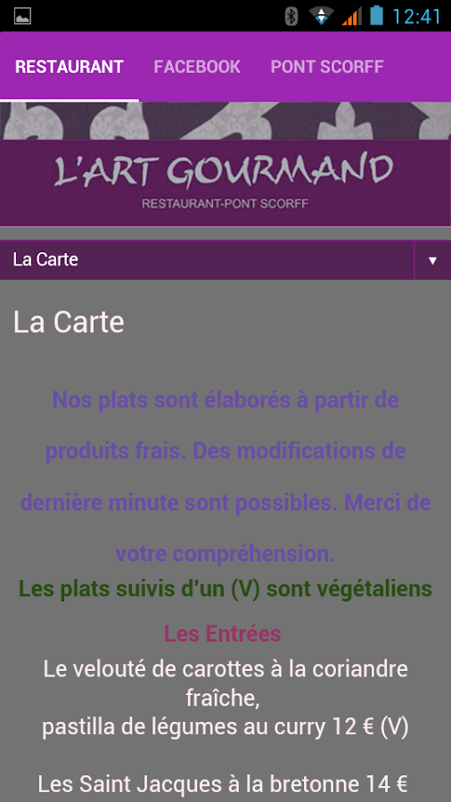 L' Art Gourmand- screenshot