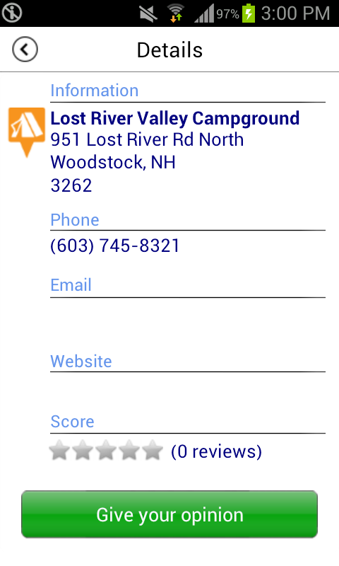 Camper's Helper - Campgrounds- screenshot
