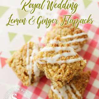 Royal Wedding Lemon and Ginger Flapjacks.
