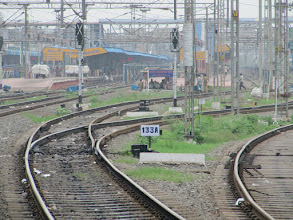 Photo: train do not turn, but the tracks make it do.