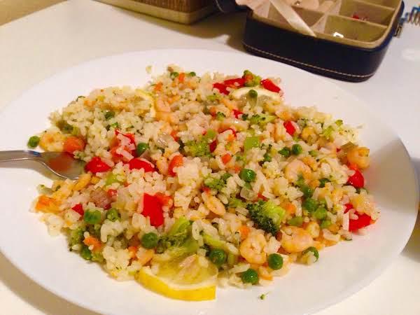 Stir Fried Rice-shrimp-vegetables Recipe