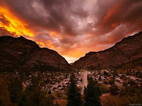 """Photo: An awesome September sunset over the town of <a href=""""http://www.widerange.org/search/?q=ouray"""">Ouray</a>, Colorado."""