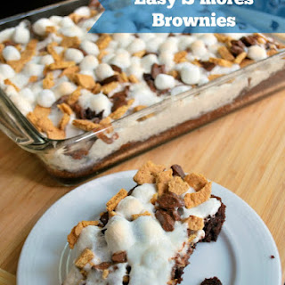 Easy S'mores Brownies.