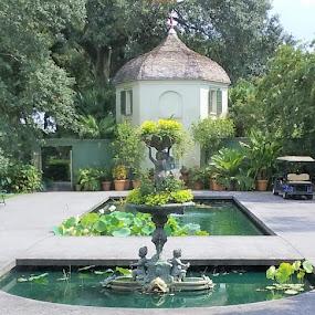 Gentlemen's Courtyard by Denise DuBos - Buildings & Architecture Public & Historical ( adorn the beauty, serenity, gentlemen's quarters, courtyard, houmas house plantation, reflection ponds )