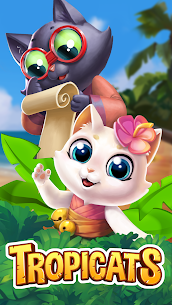 Tropicats: Build, Decorate & Play Match 3 Paradise Apk 6