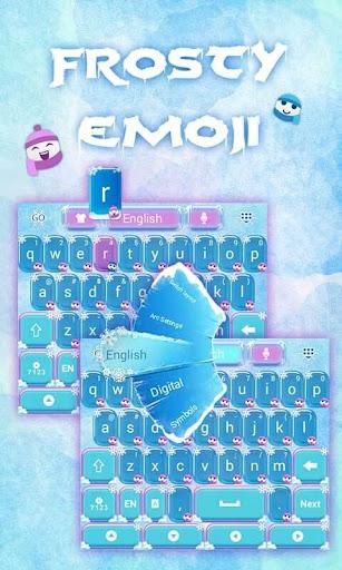 Frosty Emoji GO Keyboard Theme