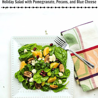 Holiday Salad with Pomegranate, Pecans, and Blue Cheese