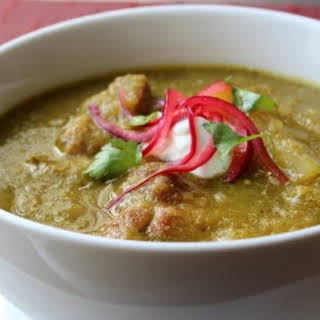 Pork Chili Verde (Green Pork Chili) – Green and Sometimes Browned.