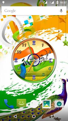 India Clock Live Wallpaper - screenshot