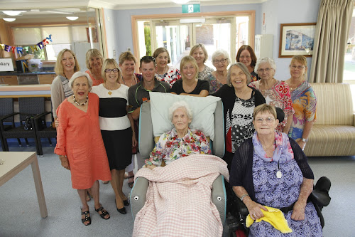 90th birthday party: Celebrating with family and friends. Back, Kristine Macartney,  Judy Jones, Vicky Frater, Carolyn Michell, Di Purcell, Anne Rae, Aileen Kennedy, Helen Cameron, Maree Tann, front, Judy McMaster, Wanda Dunnet, Simon Frater, Jane Dunnet, Celia Kennedy, front, 90th birthday celebrant Mary Macartney and Beryl Paull.