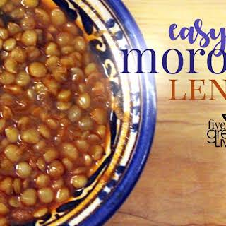 Easy Moroccan Lentils.