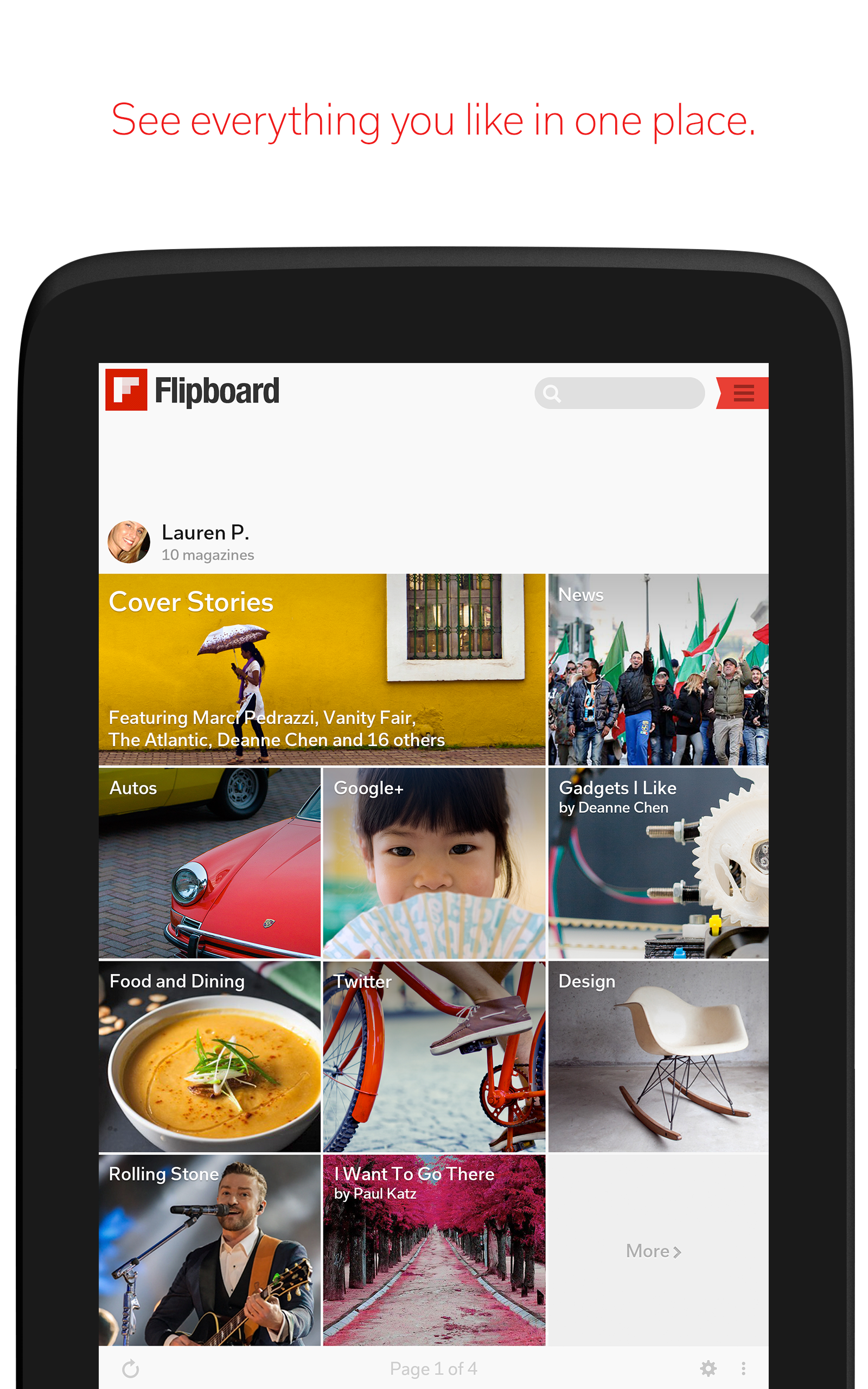 Flipboard: Your News Magazine screenshot #8