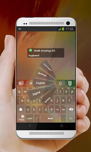 無料个人化Appのチョーク図面 GO Keyboard 記事Game