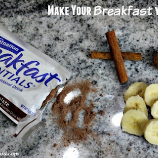 Banana Cinnamon Chocolate Breakfast Malt + Enter to WIN a GoPro, FitBitz and More