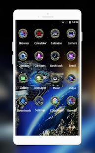 Cool Theme: Space Galaxy 3D Live Wallpaper OnePlus - náhled