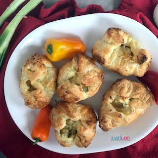 Puff Pastry Chicken Artichoke Appetizers.