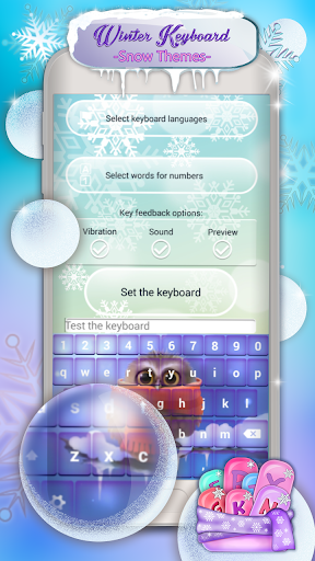 Winter Keyboard - Snow Themes
