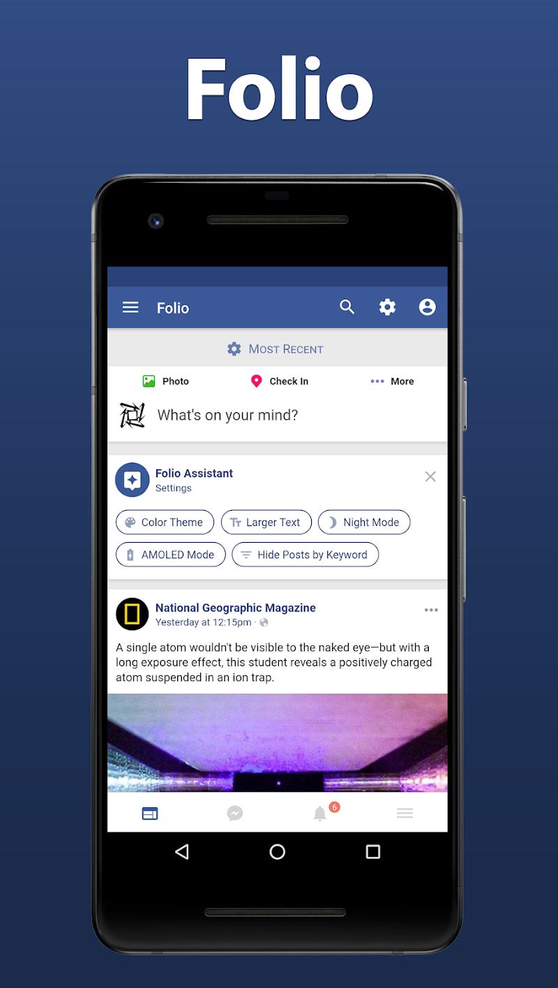 Folio for Facebook & Messenger Screenshot 0