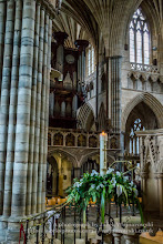 Photo: Exeter Cathedral - organ and column. Captured @ Exeter, Devon, England, United Kingdom