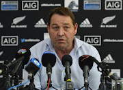 Steve Hansen (Head Coach) of the All Blacks during the All Blacks Media Stand-Up at The Vineyard Hotel on October 02, 2017 in Cape Town, South Africa.