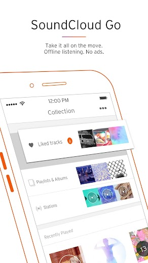 Screenshot 2 for SoundCloud's Android app'