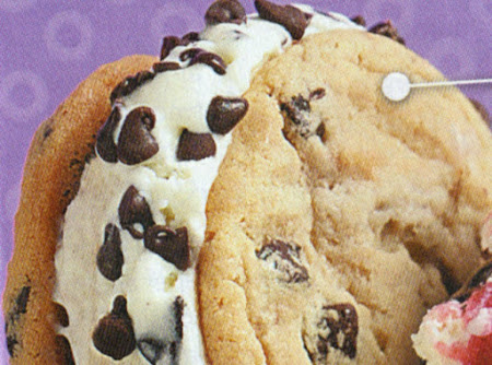 Chocolate Chip Ice cream Cookie Treats Recipe