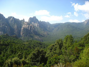 Photo: Korsika dağları.  Mountains in Corsica.
