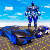 Licht Moto Roboter Transformation Auto Spiele 2019 icon
