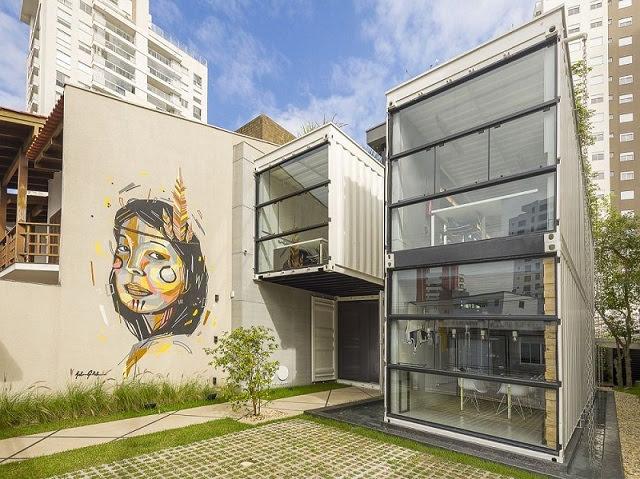 Desain Kantor Kontainer - Rodrigo Kirck Arquitetura-1