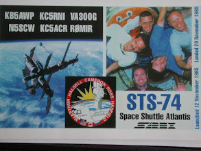 Photo: QSL card received by WAØDYU now KØIP from KC5ACR on the shuttle.      (k0ip)