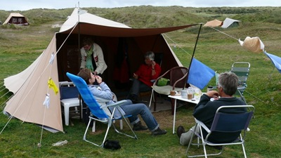 Our tent site on Vlieland