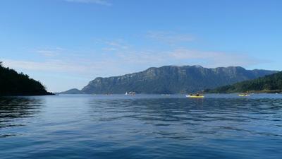 Kayaking off towards Panakiri