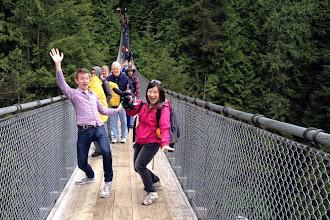 Photo: On the Capilano Suspension Bridge http://ow.ly/caYpY