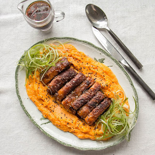 Crispy Slow-Cooked Pork Belly with Pumpkin Mash Recipe