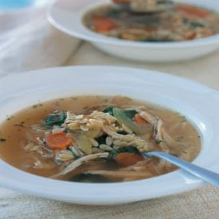 Chicken & Orzo Soup.