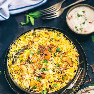 Hyderabadi Vegetable Dum Biryani I Restaurant Style Veg Dum Biryani.