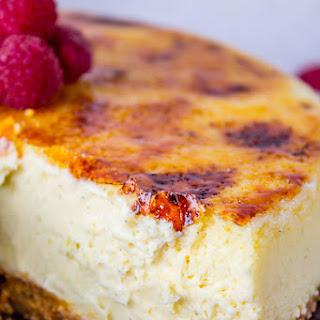 Crème Brûlée Cheesecake.