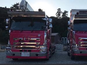 プロフィア ピンク双子 お父さんの会社の車のカスタム事例画像 齋藤翔也さんの2019年07月23日21:23の投稿