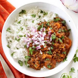 Slow Cooker Coconut Curry Lentils.