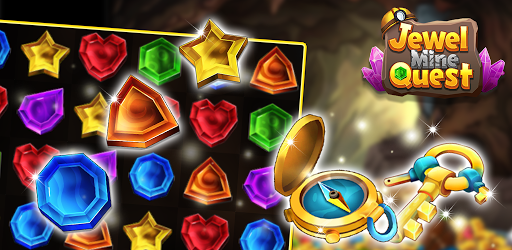 Jewel Mine Quest: Match-3 puzzle apkmr screenshots 1