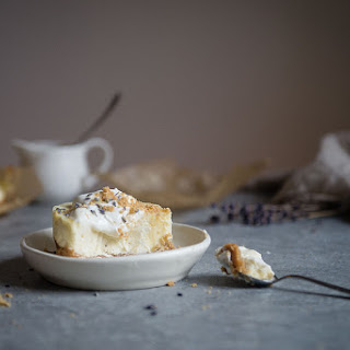 Lavender Goat Cheese Cheesecakes.