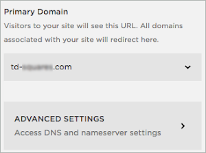 Advanced Settings is found under the Primary Domain.