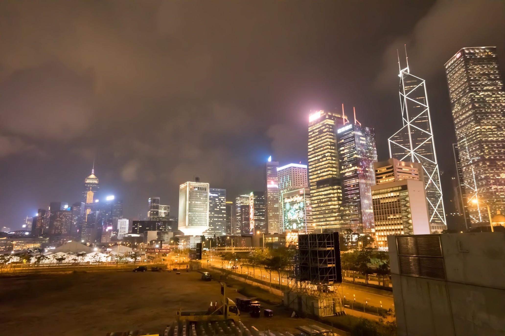 Hong Kong island Night view