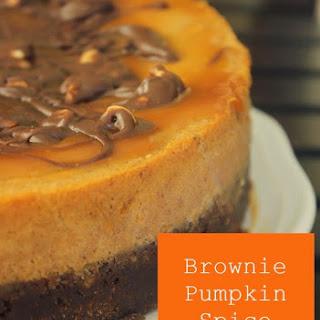 Brownie Pumpkin Spice Cheesecake